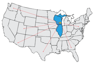 Area of Coverage Midwest and in U.S.